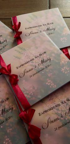 Zaproszenia ślubne rozne