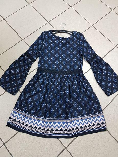 H&M r 34/36 sukienka boho wizytowa