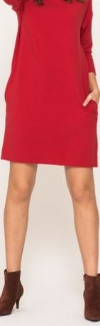 Vissavi - czerwono-malinowa sukienka - M/L