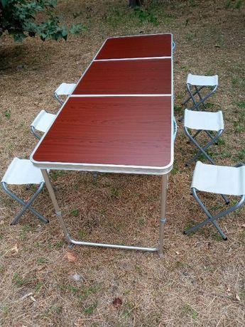 Rainberg - складной | мебель - стол (+ 6 стульев) / Столешница - новин