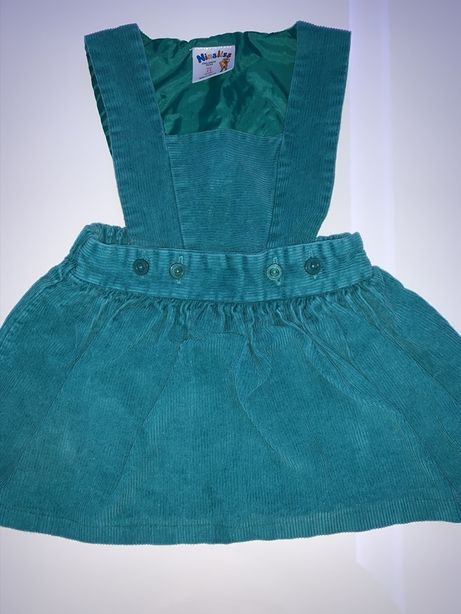 Sukienka, sukieneczka, ogrodniczki ze struksu, sztruks 92