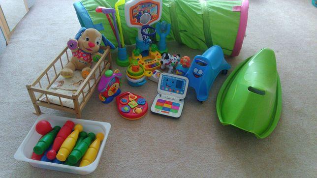 Zestaw zabawek, fisher price, sorter, jeździk, Brigiht starts, ikea