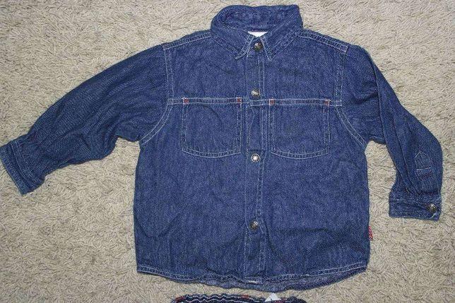 Как новая джинсовая рубашка Baby kids 80см мальчику