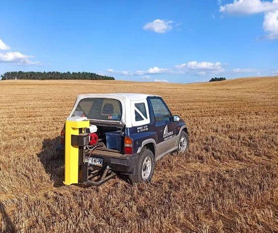 Badanie gleby pobór analiza składu chemicznego mapowanie dron szkody