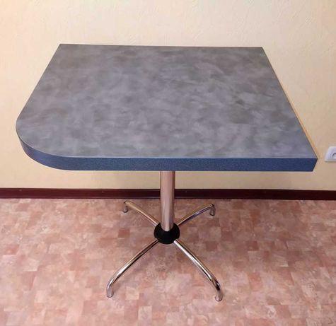 Стол кухонный, угловой, хром, 65х55 см