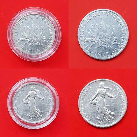 Франция 1 франк 1915 1916 1917 гг. 2 франка 1917, 5 франков 1960-1965