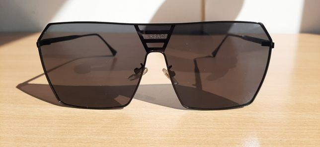 VERSACE okulary słoneczne męskie lekkie metalowe, wysyłka GRATIS