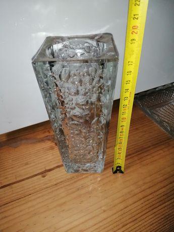 Wazon huta szkła Hortensja wazon H23-200 krople rosy drozd