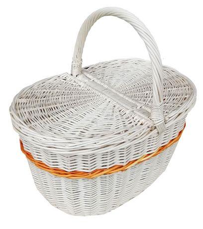Kosz na piknik, zakupy (z pomarańczowym paskiem) ECRU
