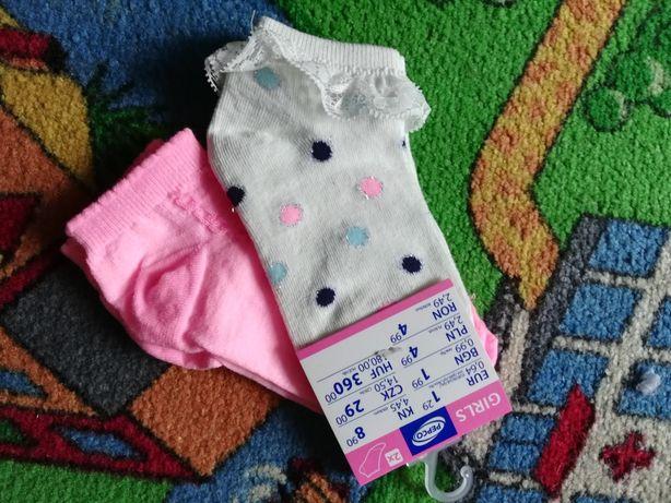 Skarpetki dla dziewczynki roz. 27-30 NOWE