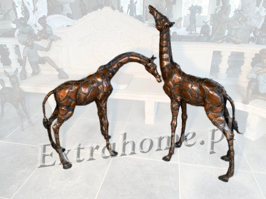 Para żyraf Żyrafa z brązu Rzeźba / figura H: 130 i 90 cm cena za parę Kraków - image 1