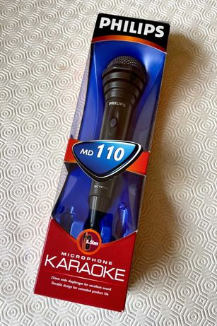 NOVO Philips - Microfone Karaoke com cabo MD SBC 110