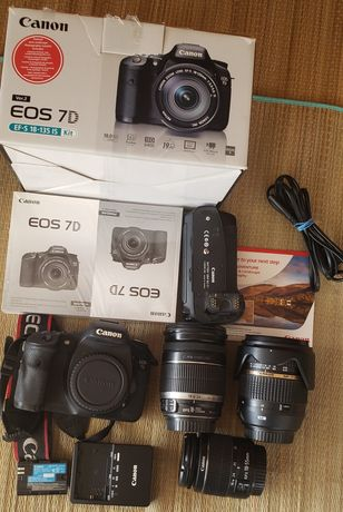 Canon 7D com BG-E7 opção LENTES