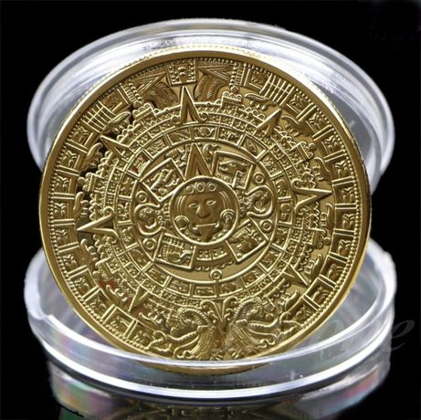 Сувенирная монета Календарь Майя Gold вид 1, 2 / Silver вид 1, 2