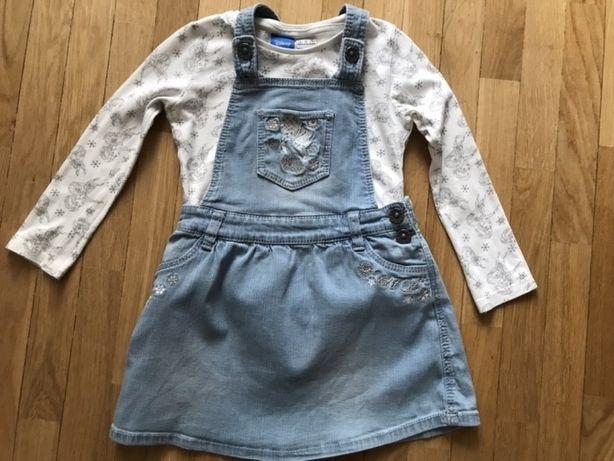 Sukienka i bluzka frozen Anna i Elsa 3-4 lata