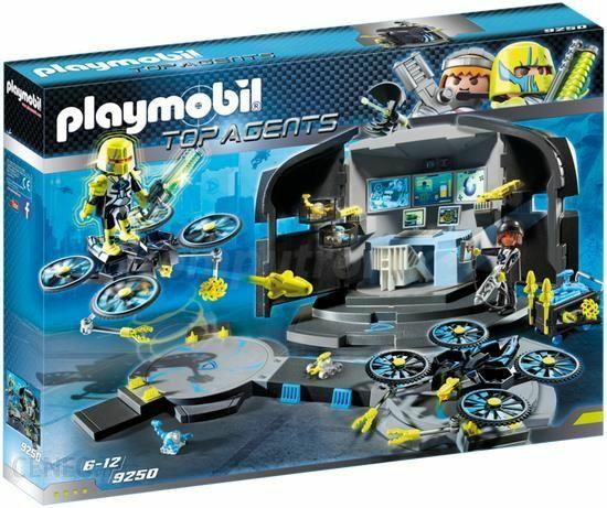 klocki Playmobil 9250 Centrum Dowodzenia Dr Dronea Top Agents