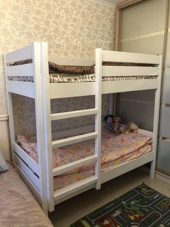 Детская / подростковая  двухетажная / двухярусная кровать 160*80 см