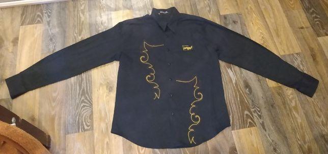 Мужская рубашка длинный рукав хлопок ХХL размер 50-52