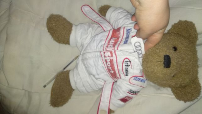 игрушка медведь мотогонщик ауди мишка тедди TEDDY Audi спорт комбинезо