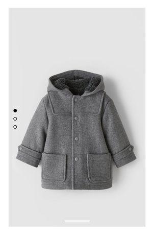 Budrysówka płaszcz z flauszu nowy Zara r. 86