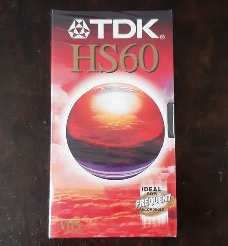Nowe Czyste Zafoliowane Kasety VHS TDK 60 min (7 sztuk)