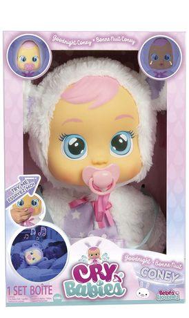 Интерактивная кукла Cry Babies Goodnight Coney - Sleepy Time Baby Doll