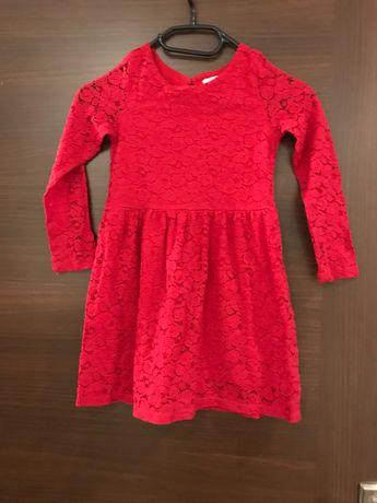Czerwona sukienka H&M rozmiar 110