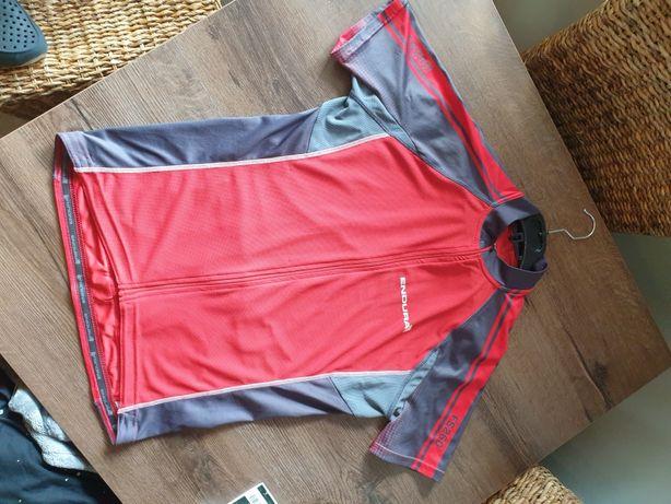 Koszulka kolarska na rower Jersey Endura FS260 czerwona L