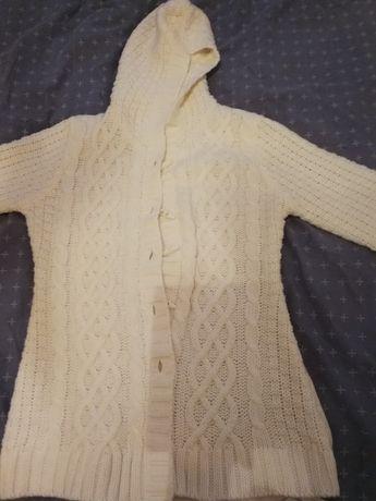 Sweter biały rozpinany