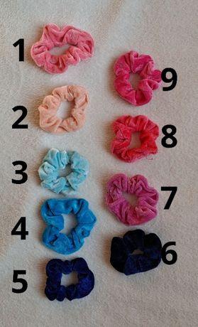 Frotki scrunchies różowo-niebieskie