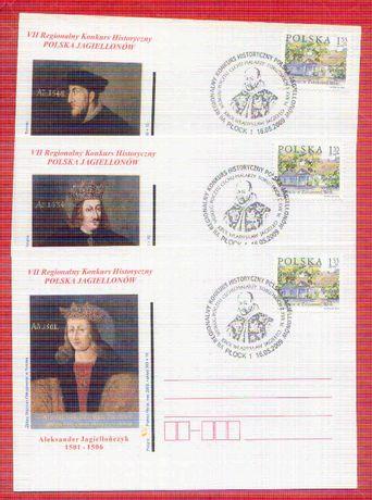 Kartki Jagiellonowie stempel król Jagiełło 2009 rok