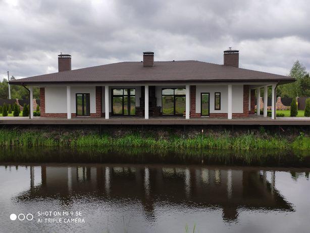 Шикарный Дом с озером возле леса и речки!!! с.Звонковое