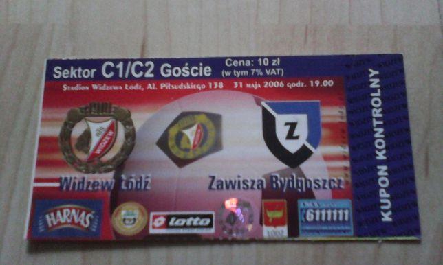 bilet Widzew Łódź -Zawisza Bydgoszcz 31 maja 2006 rok