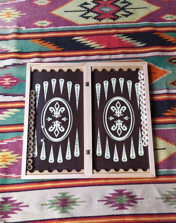 Нарды шашки 2 в 1 деревянные ручная работа
