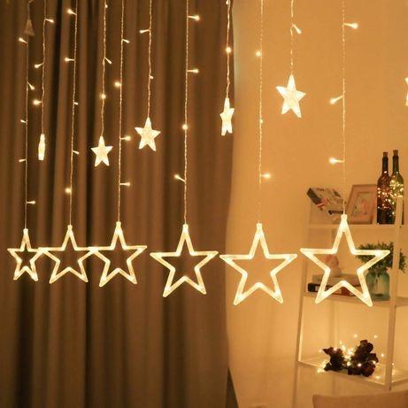 Гирлянда-штора «Звёзды»