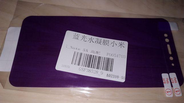 Захисне скло стекло защитное гідрогель гидрогель Xiaomi redmi note 5 a