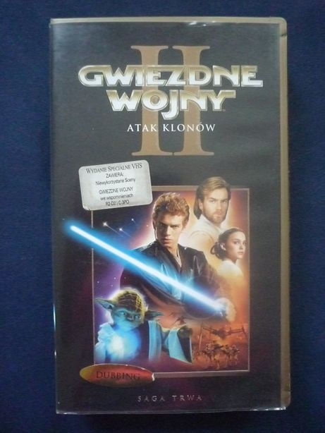 Gwiezdne Wojny Atak Klonów VHS