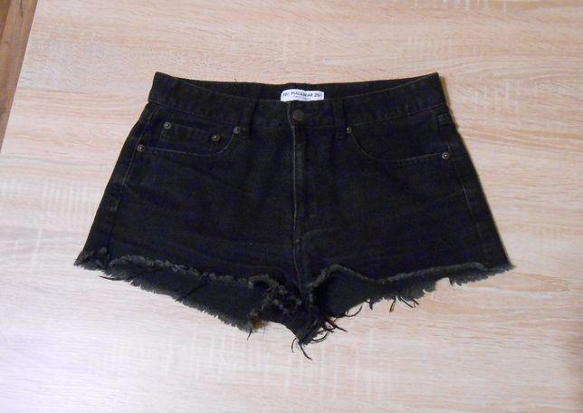 czarne spodenki jeans S/M
