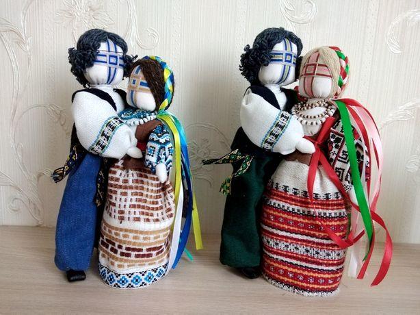 """Кукла мотанка """"Неразлучники"""" ПАРА, высота 21 -25 см, лялька"""