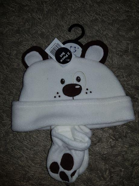 Zestaw czapka i rękawiczki Earlydays Primark 6 mcy