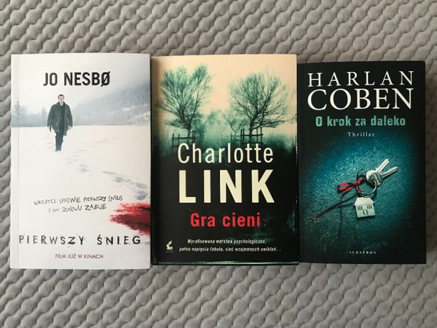 """""""Pierwszy śnieg"""", """"Gra cieni"""", """"O krok za daleko"""" - 3 thrillery"""