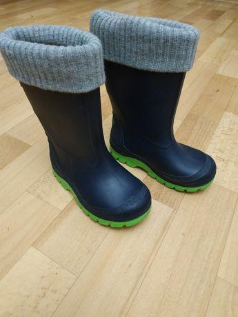 Резинові чоботи + теплі вкладки