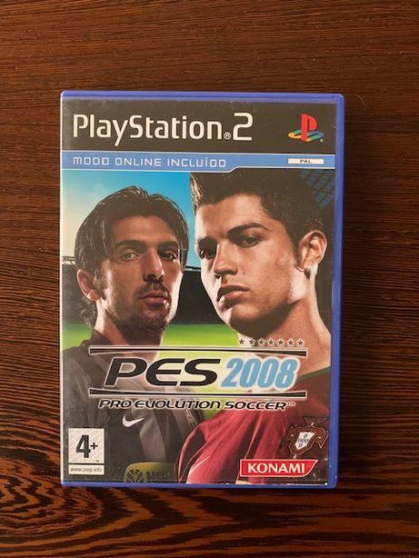 Jogo Playstation 2 - PES 2008 - PRO EVOLUTION SOCCER