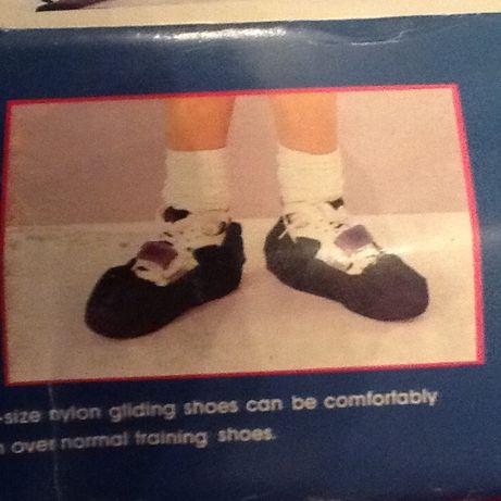 Mata do ćwiczeń z pokrowcami na buty.