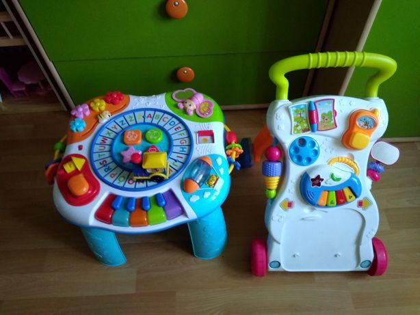 Stolik zabawka dla dzieci gratis chodzik pchacz używane