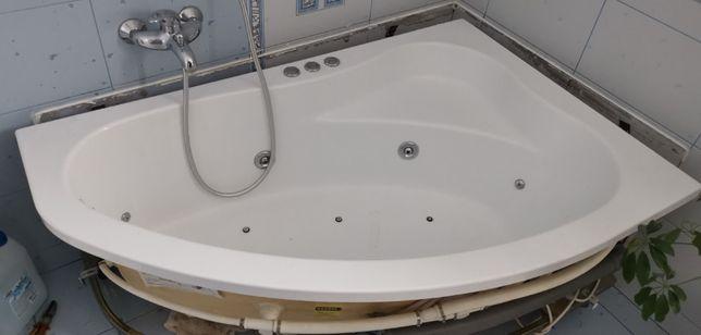 wannna akrylowa Sanplast Kaprys 145x95 hydromasaż wraz z obudową