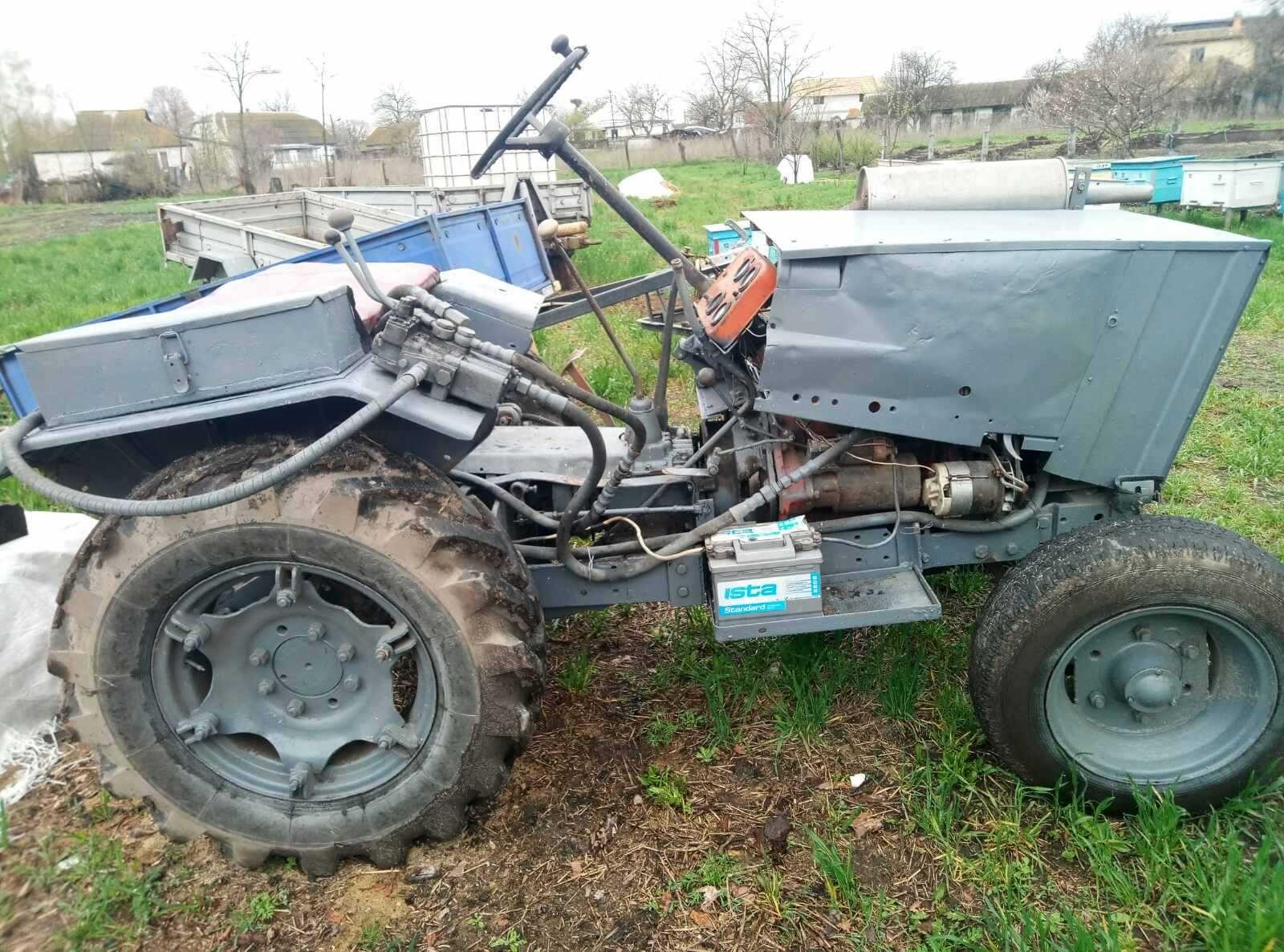 Минитрактор трактор саморобний самодельный