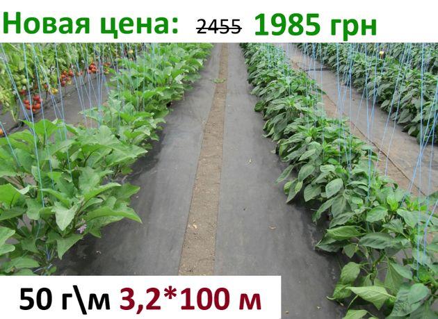 Агроволокно черное для клубники мульчирования 50 г\м 3,2*100 м