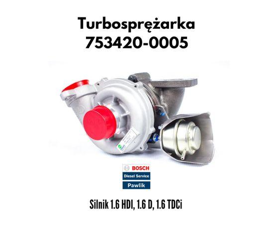 Turbosprężarka Citroen Ford Peugeot Volvo / Turbina 1.6 HDI 1.6 TDCi