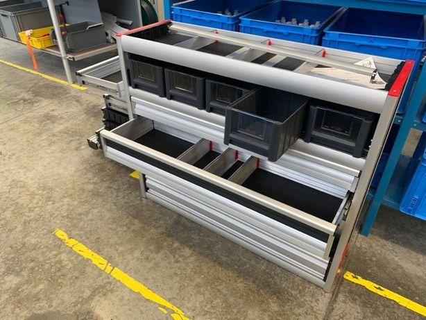 Zabudowa warsztatowa serwisowa GEMA MB Citan L1H1 100% aluminium